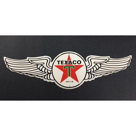 Texaco Wing Tin Signs-Mr Revhead