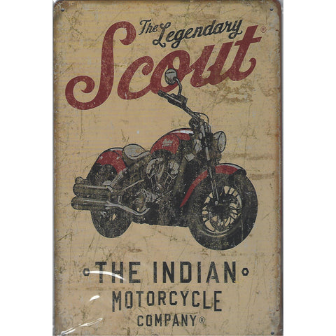 The Legendary Indian Scout Tin Sign-Mr Revhead