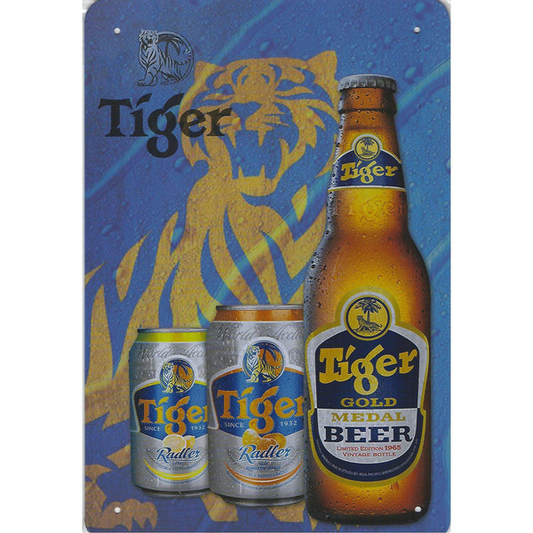 Tiger Beer Tin Sign-Mr Revhead