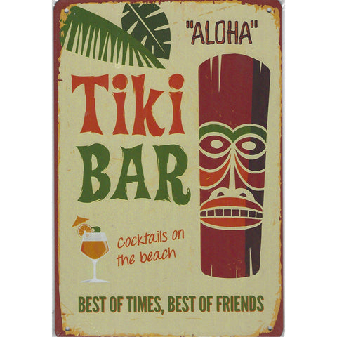 Tiki Bar Tin Sign-Mr Revhead