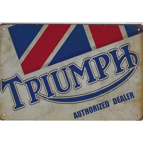 Triumph Tin Signs