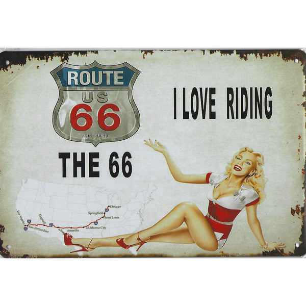US Route 66 Tin Sign-Mr Revhead