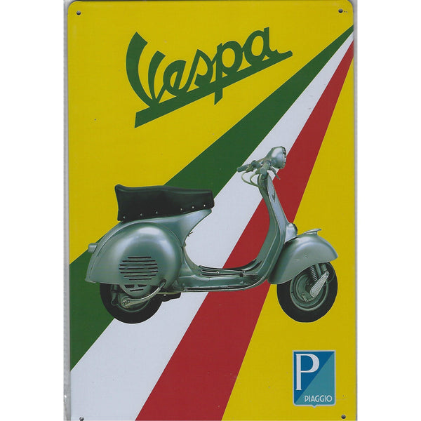 Vespa Tin Sign-Mr Revhead