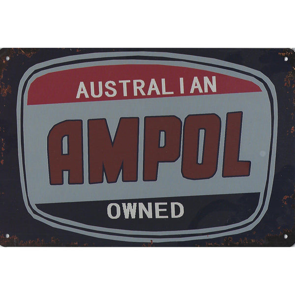 Vintage Ampol Tin Sign-Mr Revhead