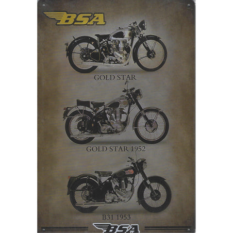 Vintage BSA Collection Tin Sign-Mr Revhead