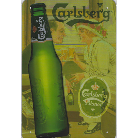 Vintage Carlsberg Beer Tin Sign-Mr Revhead
