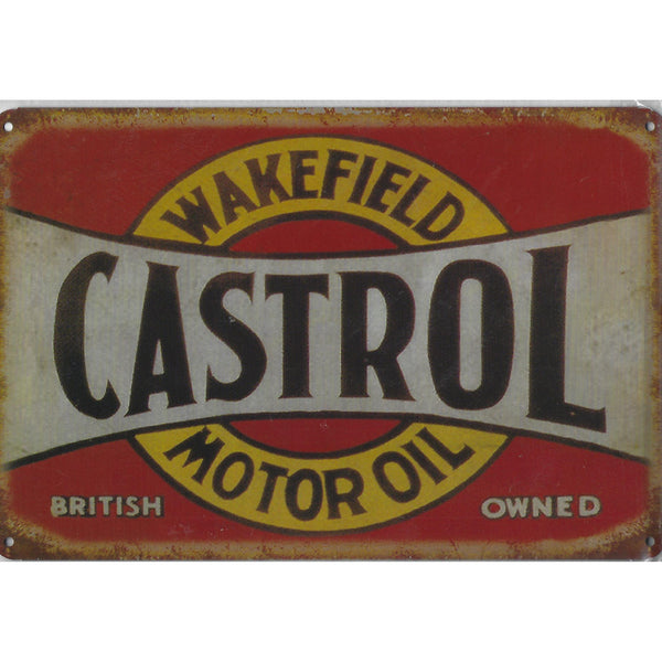 Vintage Castrol Motor Oil Tin Sign-Mr Revhead