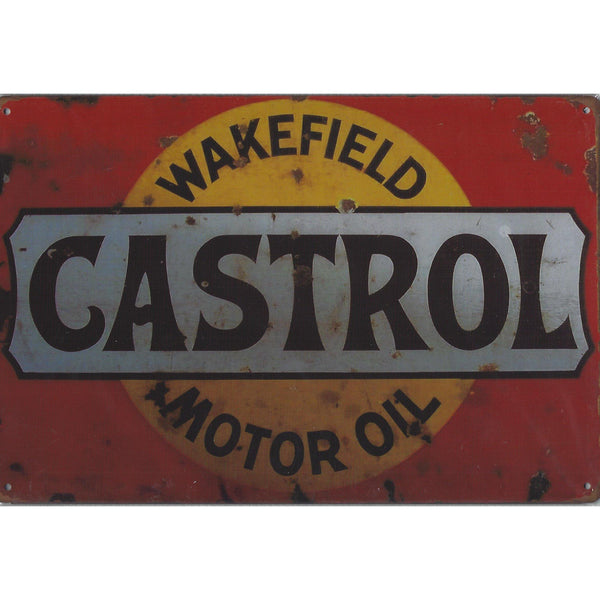 Vintage Castrol Tin Sign-Mr Revhead