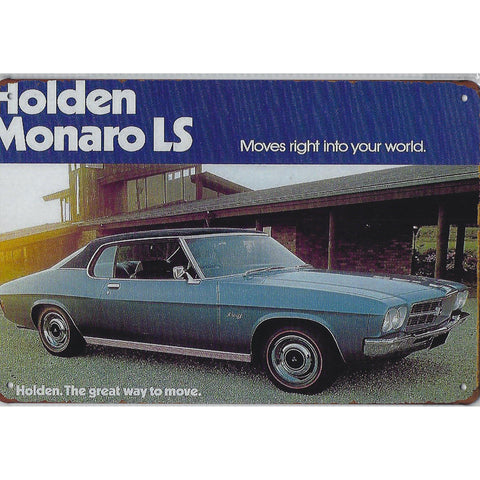Vintage Holden Monaro LS Tin Sign-Mr Revhead