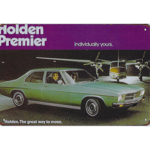 Vintage Holden Premier Tin Sign-Mr Revhead