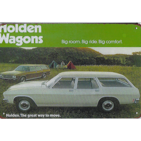 Vintage Holden Wagons Tin Sign-Mr Revhead