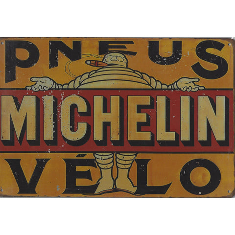 Vintage Michelin Tin Sign-Mr Revhead