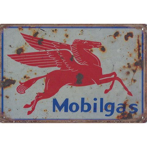 Vintage Mobil Tin Sign-Mr Revhead