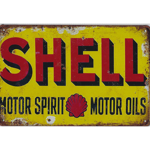 Vintage Shell Oil Tin Sign-Mr Revhead