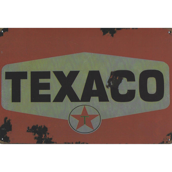 Vintage Texaco Tin Sign-Mr Revhead