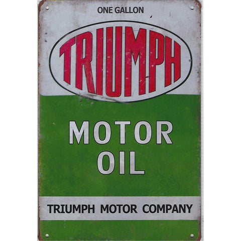 Vintage Triumph Motor Oil Tin Sign-Mr Revhead