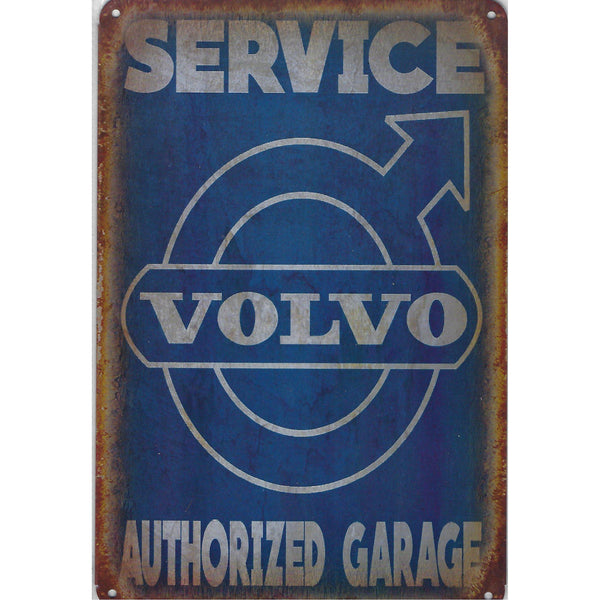 Volvo Service Garage Tin Sign-Mr Revhead