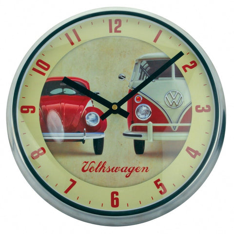 VW Camper Van & Beetle Wall Clock-Mr Revhead