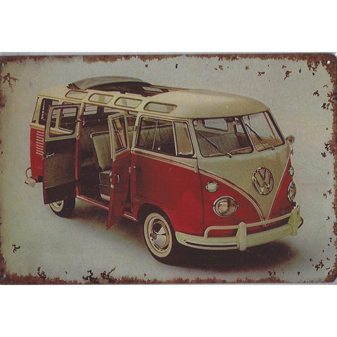 VW Combi Tin Sign-Mr Revhead