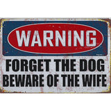 Warning Beware Of Wife Tin Sign-Mr Revhead