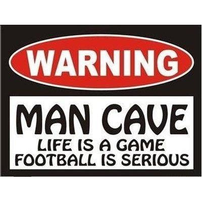 Warning Man Cave Tin Sign-Mr Revhead
