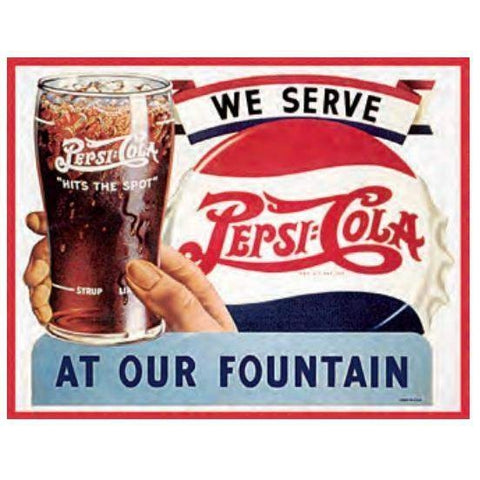 We Serve Pepsi Tin Sign-Mr Revhead