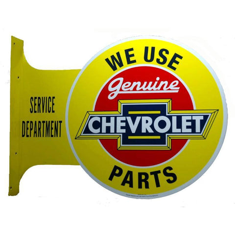 We Use Genuine Chevrolet Parts Tin Sign-Mr Revhead