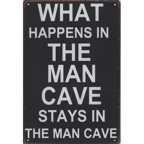What Happens In The Man Cave Tin Sign-Mr Revhead