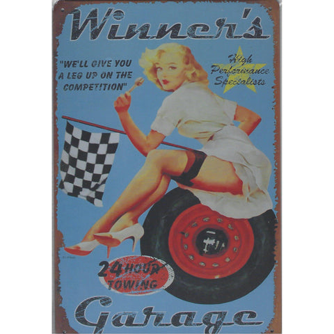 Winners Garage Tin Sign-Mr Revhead