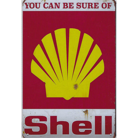 You Can Be Sure Of Shell Tin Sign-Mr Revhead