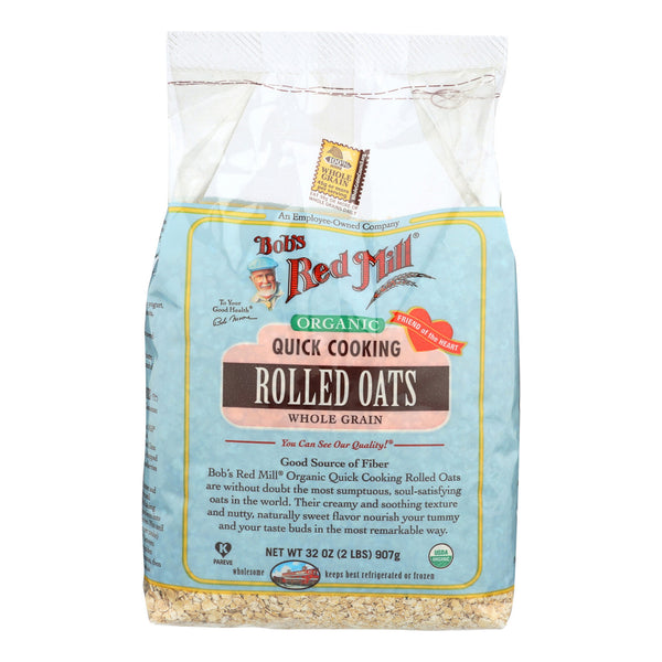 Bob's Red Mill Organic Quick Cooking Rolled Oats - 32 oz - Case of 4
