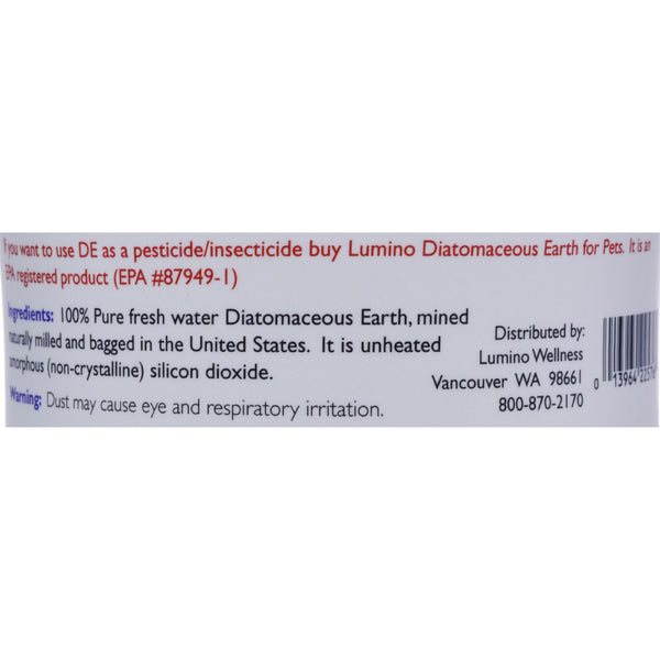 Lumino Home Diatomaceous Earth - Food Grade - Pure - 9 oz