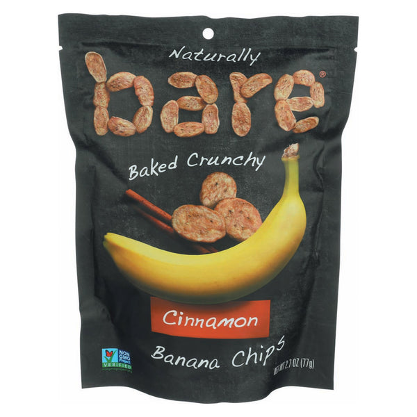 Bare Fruit Banana Chip - Cinnamon - Case of 12 - 2.7 oz.