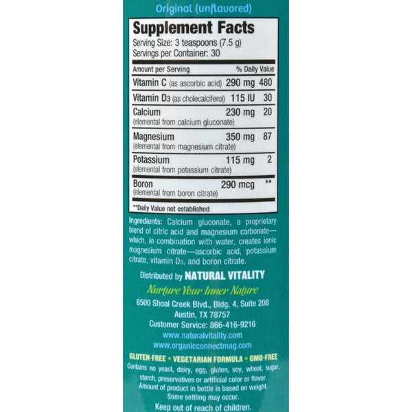 Natural Vitality Natural Magnesium Calm Plus Calcium - 8 oz