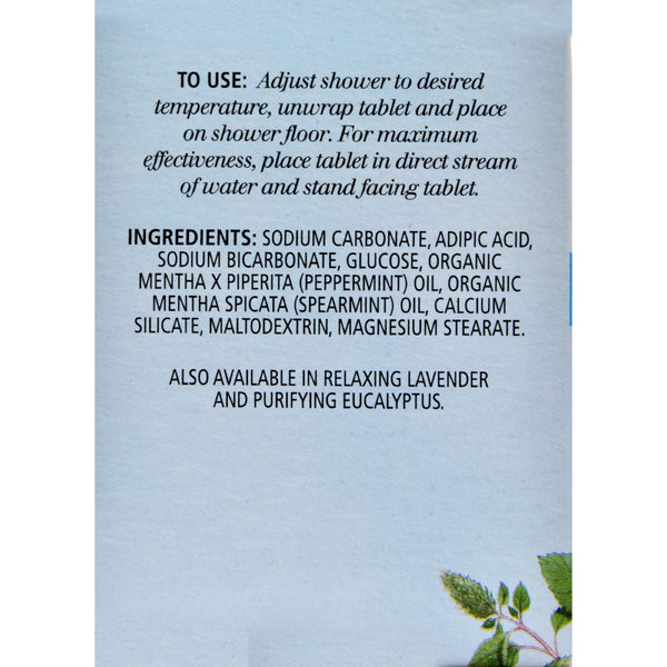 Aura Cacia Reviving Aromatherapy Shower Tablets Peppermint - 3 Tablets