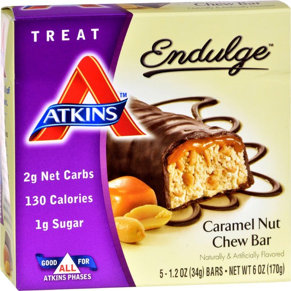 Atkins Endulge Bar Caramel Nut Chew - 5 Bars