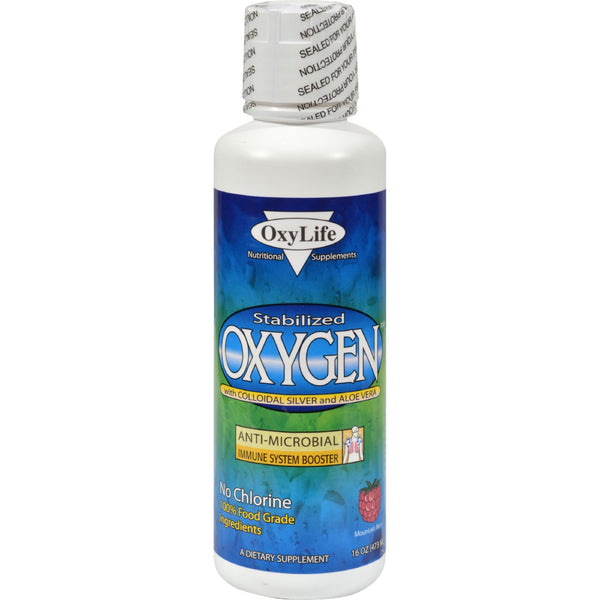 Oxylife Stabilized Oxygen with Colloidal Silver and Aloe Vera Mountain Berry - 16 fl oz