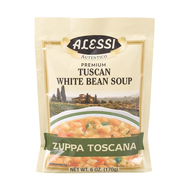 Alessi Tuscan - White Bean Soup - Case of 6 - 6 oz.