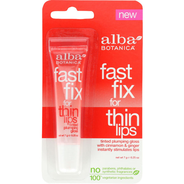 Alba Botanica Fast Fix For Thin Lips - .25 oz - case of 6