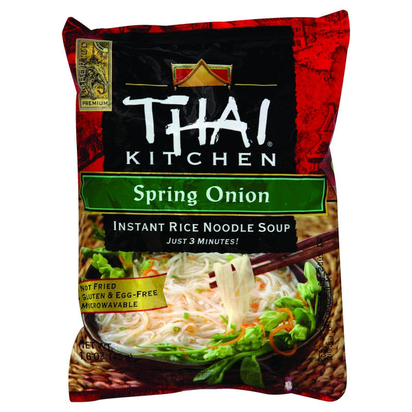 Thai Kitchen Instant Rice Noodle Soup - Spring Onion - Mild - 1.6 oz - Case of 6