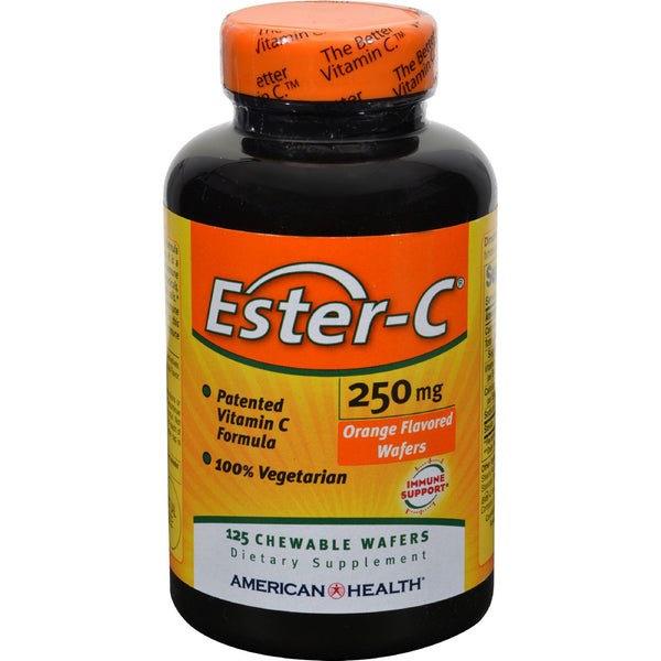 American Health Ester-C Orange - 250 mg - 125 Wafers