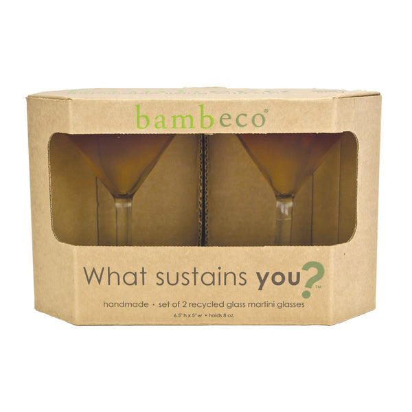 Bambeco Rioja Recycled Martini Glass - Case of 6