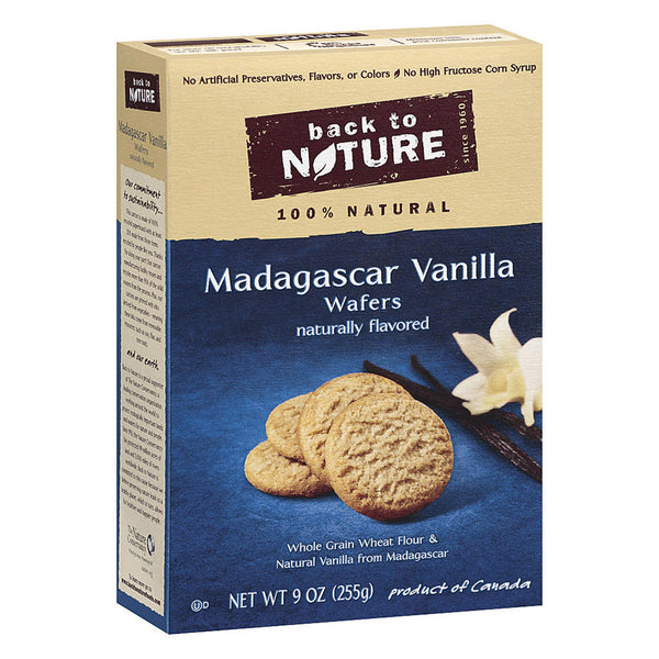 Back To Nature Madagascar Vanilla Wafers - Case of 12 - 9 oz.