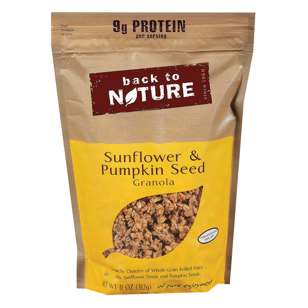 Back To Nature Granola - Sunflower and Pumpkin Seed - Case of 6 - 11 oz.