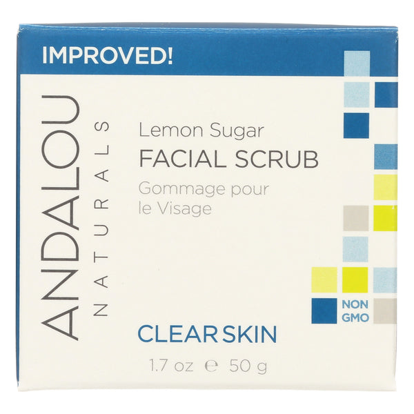 Andalou Naturals Clarifying Facial Scrub Lemon Sugar - 1.7 fl oz