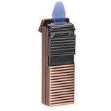 Black Label El Presidente Flat Flame Lighter Copper Satin & Gunmetal - Brigham & More