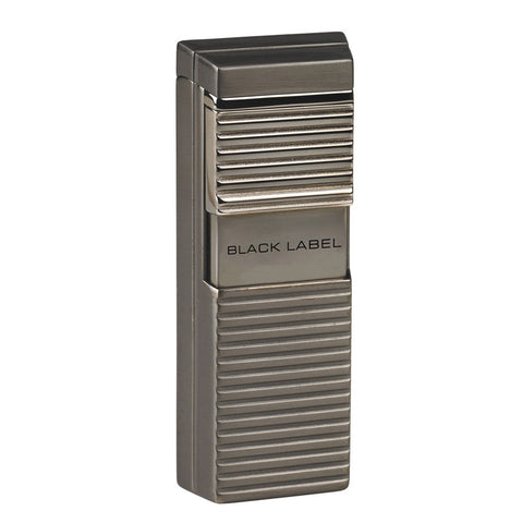 Black Label El Presidente Flat Flame Lighter Brushed Chrome - Brigham & More