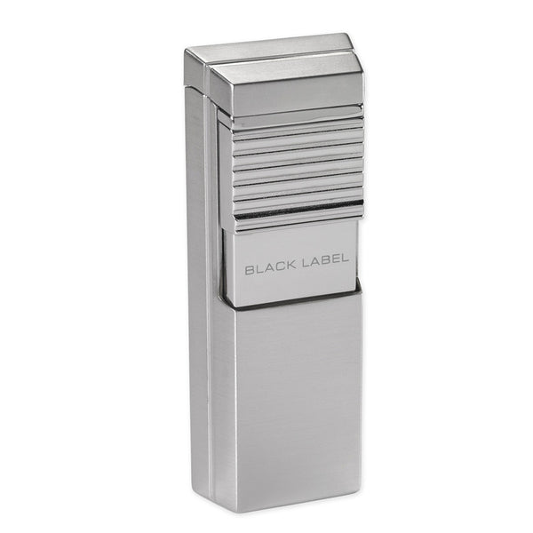 Black Label El Presidente Flat Flame Lighter Gunmetal - Brigham & More