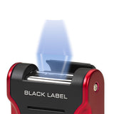 Black Label Flat Flame II Lighter Black & Orange - Brigham & More