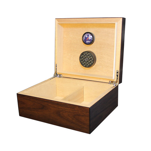 Equinox 50 Count Humidor Dark Walnut - Brigham & More